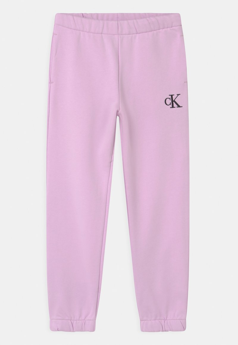 Calvin Klein Jeans - RELAXED ELASTIC  - Tracksuit bottoms - purple
