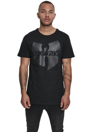 WU-WEAR BLACK LOGO - T-shirt imprimé - black