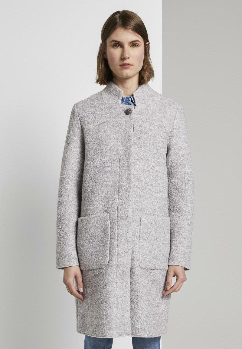 TOM TAILOR - Short coat - mid grey melange