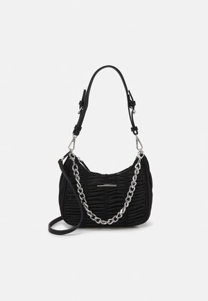 ACERA - Handbag - jet black/silver-coloured