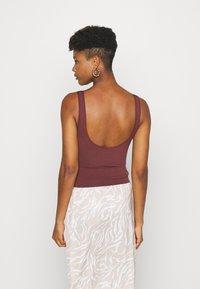 BDG Urban Outfitters - IMOGEN TANK - Top - burgundy - 2