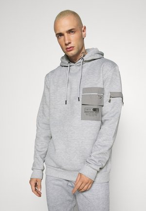 CHELSEA - Sweat à capuche - light grey marl/grey/jet black