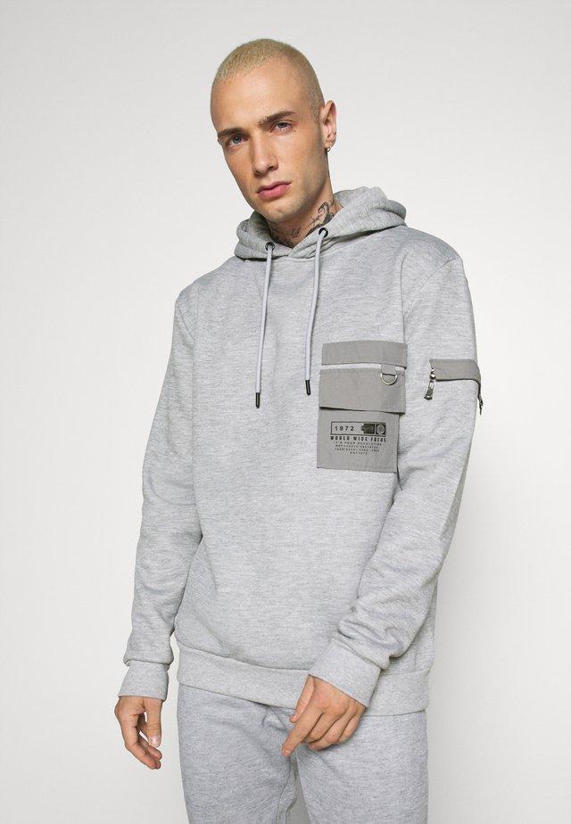 CHELSEA - Hoodie - light grey marl/grey/jet black