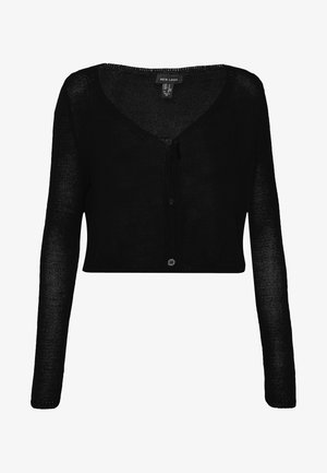 LIGHTWEIGHT SHEER  - Cardigan - black