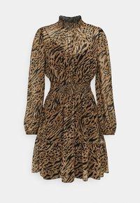 Forever New - ALISON SHIRRED NECK SKATER DRESS - Day dress - brown - 3