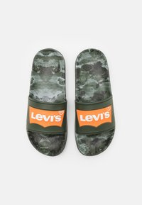Levi's® - POOL 02 UNISEX - Pantofle - green/orange - 3