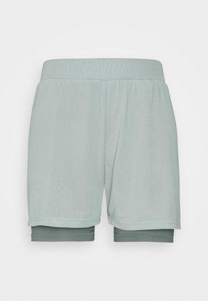 Pantalón corto de deporte - green/blue-grey