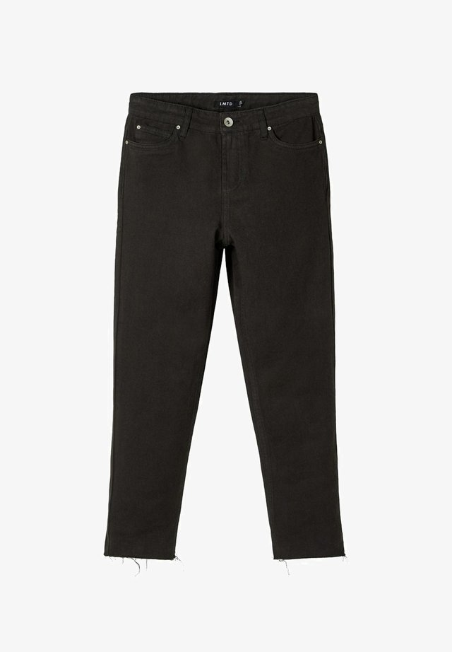 HIGH WAIST  - Jeans slim fit - black denim