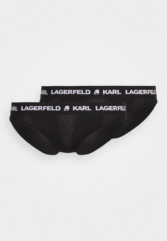 LOGO BRIEF 2 PACK - Slip - black
