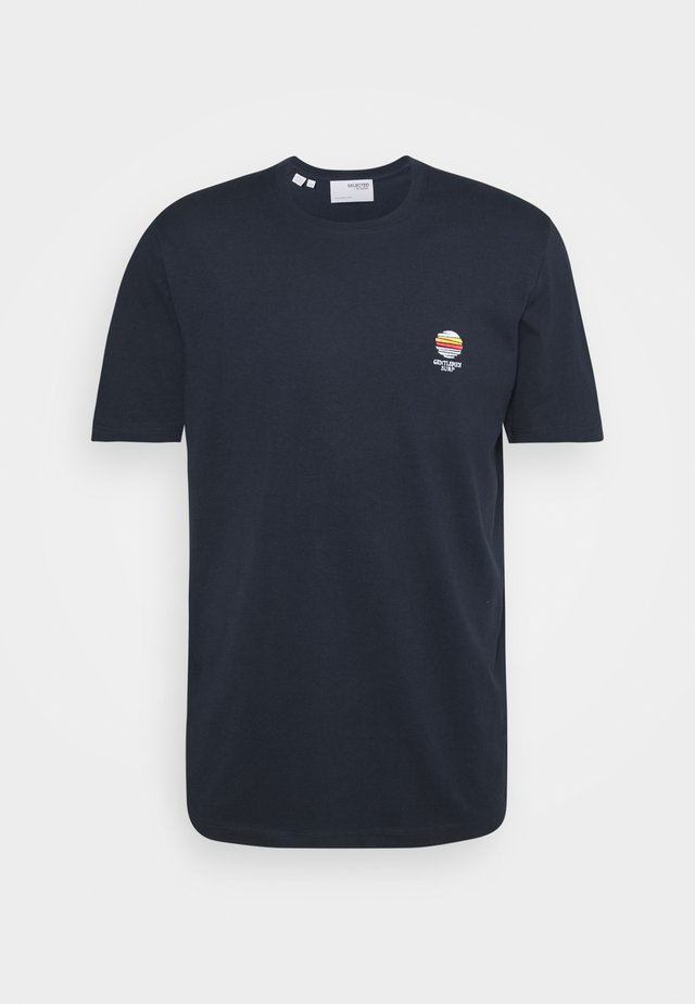 SLHFATE CAMP O NECK TEE - T-shirt print - sky captain
