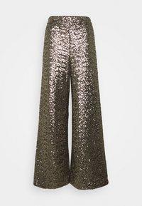 Banana Republic - EWAIST WIDE LEG CLUSTER SEQUIN - Trousers - bold bronze - 0