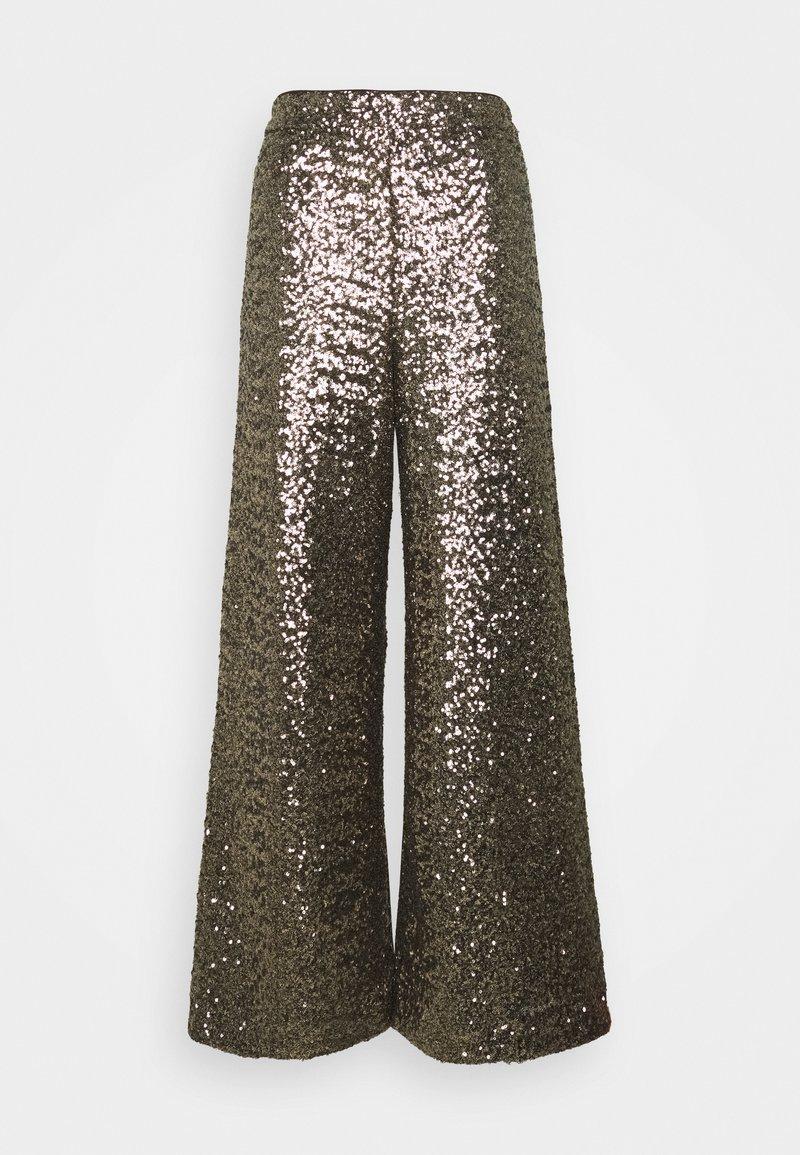 Banana Republic - EWAIST WIDE LEG CLUSTER SEQUIN - Trousers - bold bronze