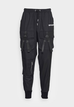 DOUBLE BUCKLE PANTS - Pantaloni cargo - black