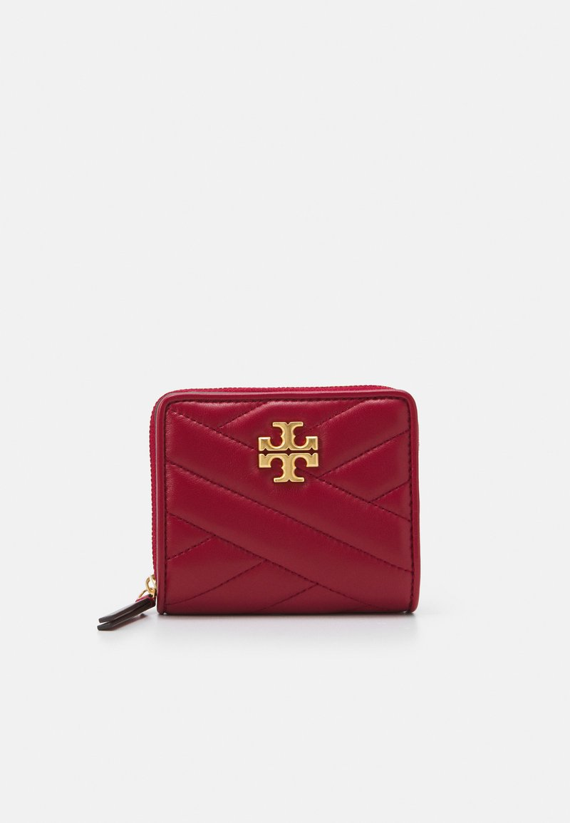 Tory Burch - KIRA CHEVRON BIFOLD WALLET - Wallet - redstone/rolled brass