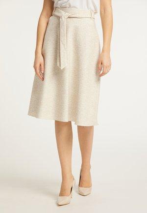 A-line skirt - beige weiss melange