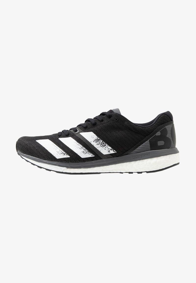 adidas Performance - ADIZERO BOSTON 8 - Laufschuh Wettkampf - core black/footwear white/grey five