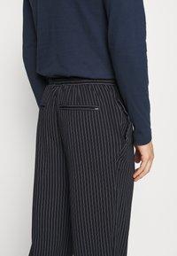 Casual Friday - PIERRE STRIPE PANTS - Trousers - navy blazer - 4
