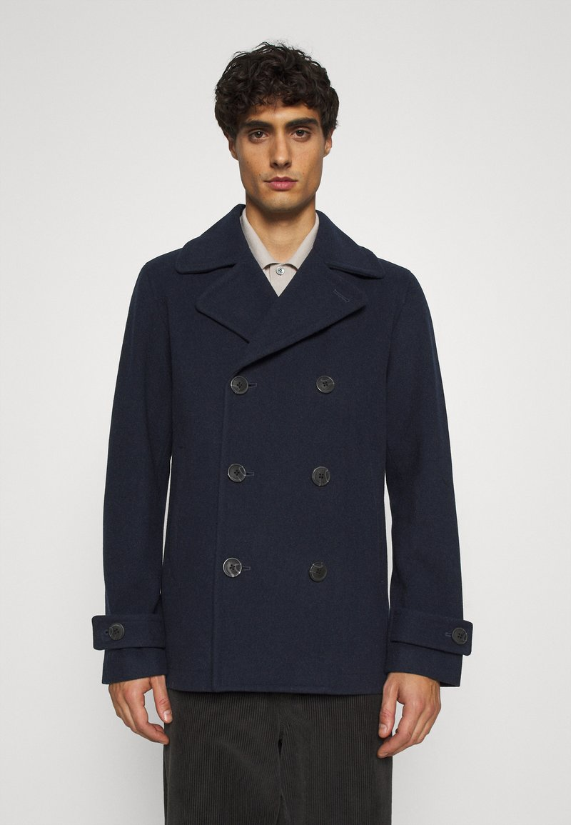 Selected Homme - SLHSUSTAINABLE ICONICS PEACOAT  - Classic coat - sky captain
