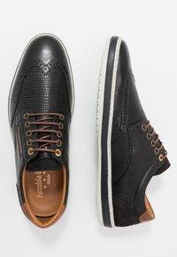Pantofola d'Oro - MILAZZO UOMO - Zapatos con cordones - black - 1