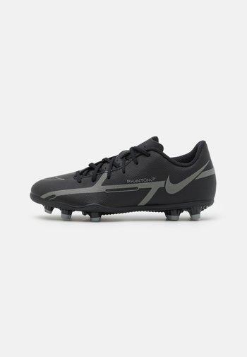 JR. PHANTOM GT2 CLUB FG/MG UNISEX - Moulded stud football boots - black/iron grey/metallic bomber grey