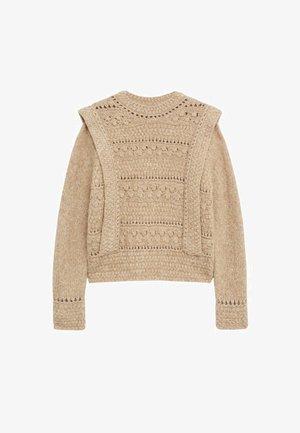 Sweter - halvbrun