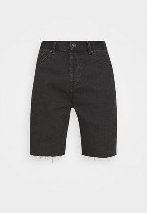 DAD - Denim shorts - washed black