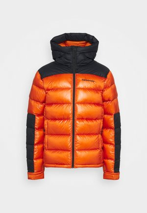 FROST GLACIER HOOD - Down jacket - orange altitude