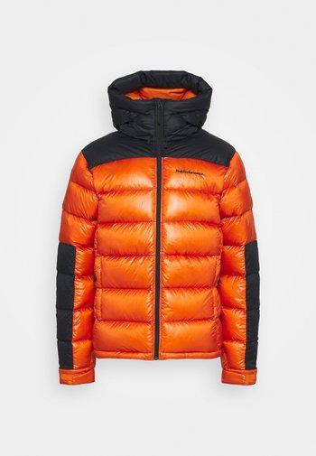 FROST GLACIER HOOD - Down jacket - orange altitude