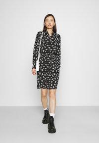 Vero Moda - VMSAGA COLLAR SHIRT DRESS  - Shirt dress - black/dara - 1