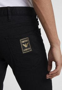 Emporio Armani - Slim fit jeans - denim nero - 5