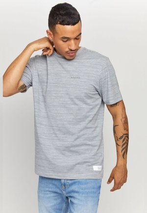 KEITH - T-shirt basic - grey mel/navy