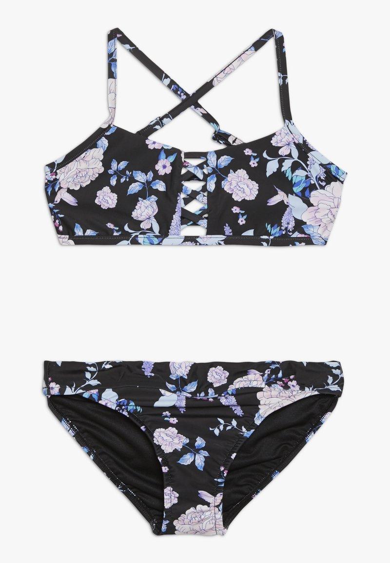 Seafolly - FLORAL CROSS FRONT TANKINI SET - Bikini - black