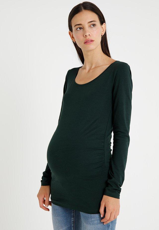 Topper langermet - turquoise