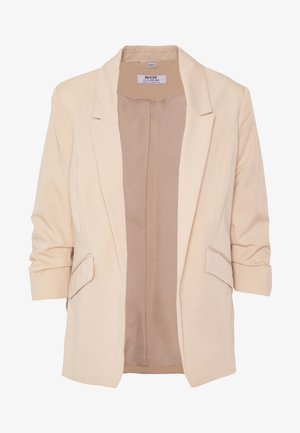 PETITES STONE EDGE TO EDGE ROUCHED SLEEVE JACKET - Blazer - stone