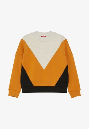 COLOURBLOCK IN CLEAN QUALITY - Sweatshirt - mottled light grey/yellow