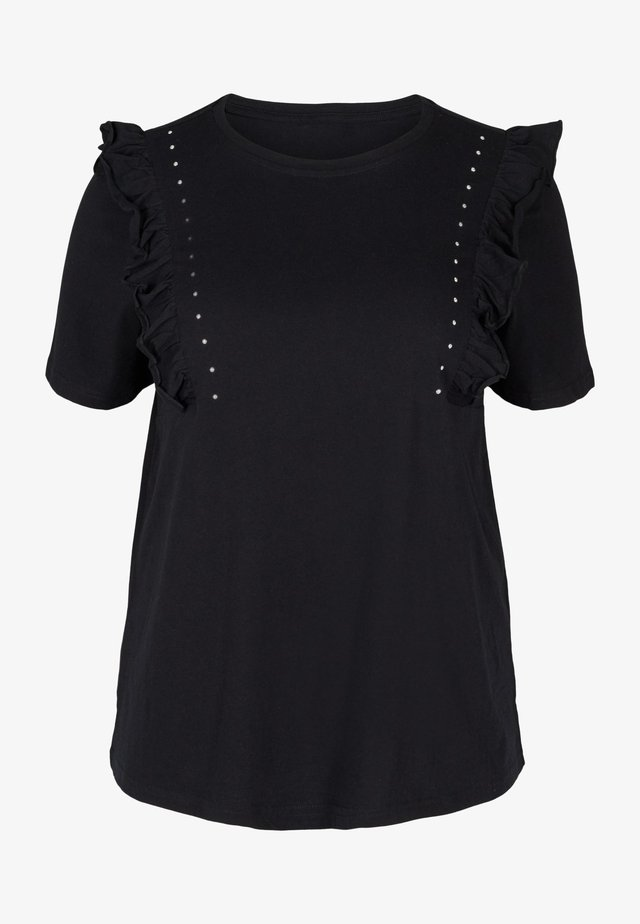 RÜSCHEN - Basic T-shirt - black