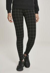 Urban Classics - Leggings - Trousers - black/white - 0