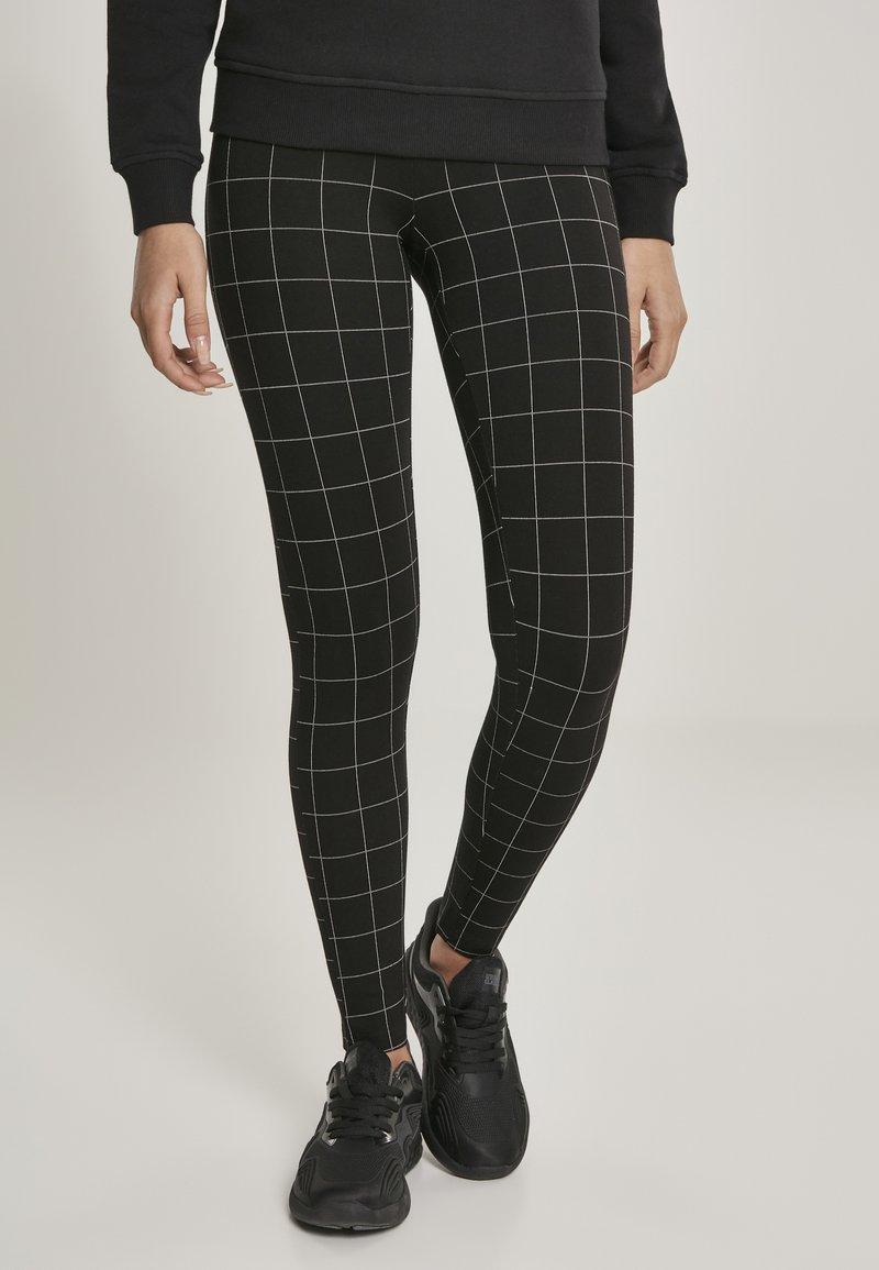 Urban Classics - Leggings - Trousers - black/white