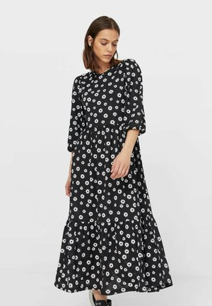 MIT PRINT - Day dress - black