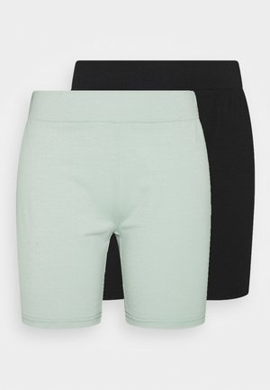 CYCLING 2 PACK - Shorts - smoke green/black