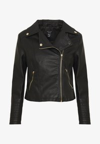 New Look Petite - AFFODIL QUILTED BIKER - Veste en similicuir - black - 3