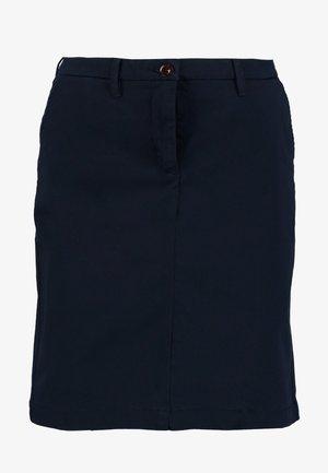 CLASSIC CHINO SKIRT - Pencil skirt - marine