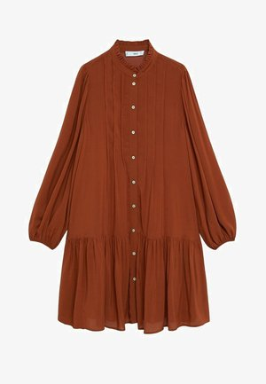 SOFIA - Shirt dress - rouge-orangé