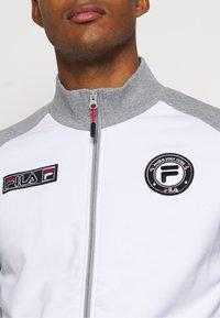Fila - SMUDO - Zip-up hoodie - light grey melange/white - 5