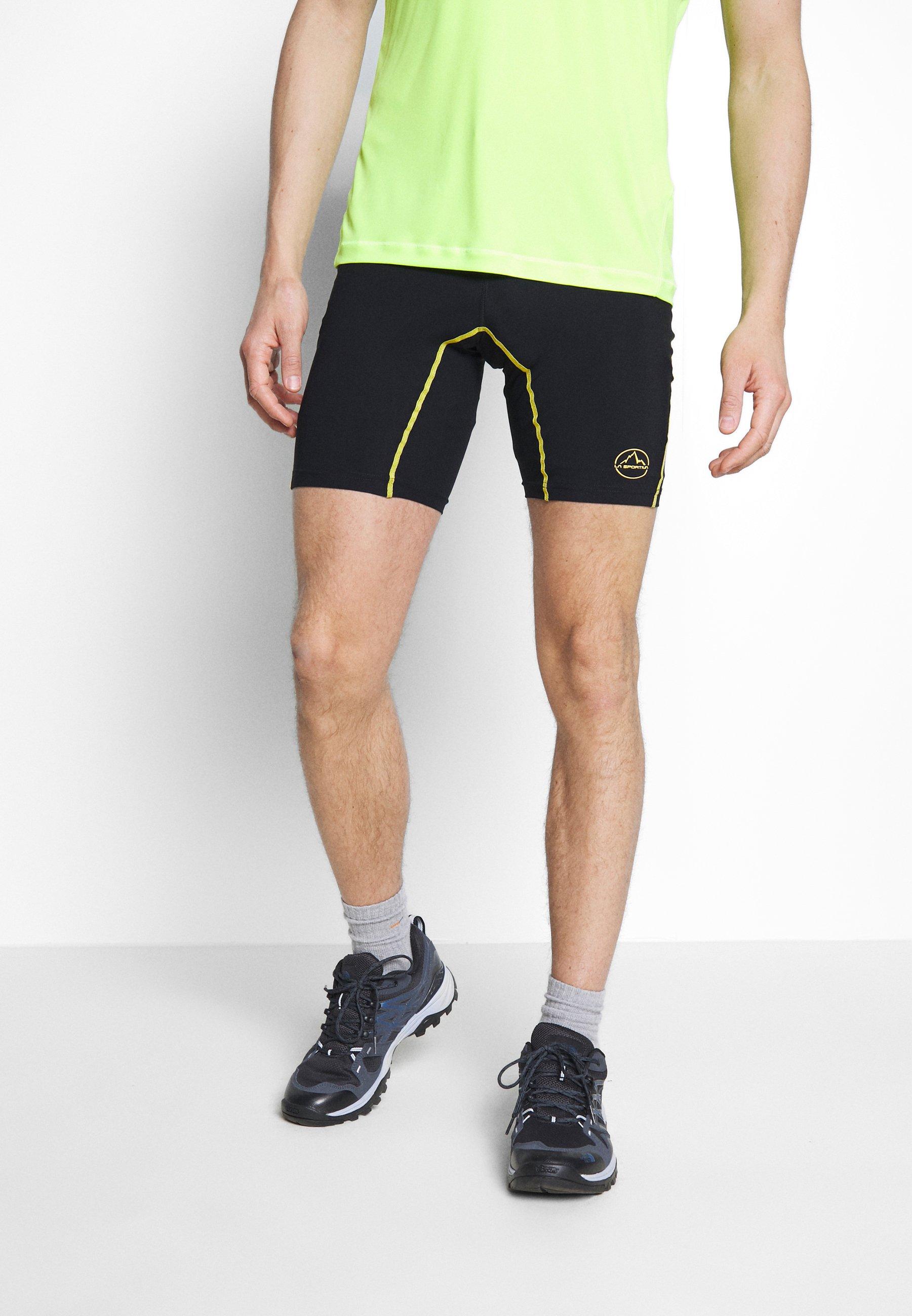 Fast Express Abbigliamento da uomo La Sportiva FREEDOM TIGHT SHORT Collant black/yellow
