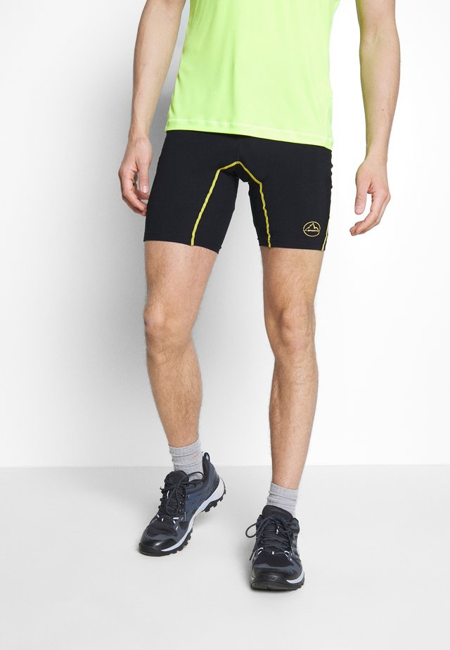 FREEDOM TIGHT SHORT - Legginsy - black/yellow