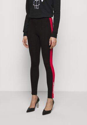 CONTRAST PANEL  - Leggings - Trousers - black