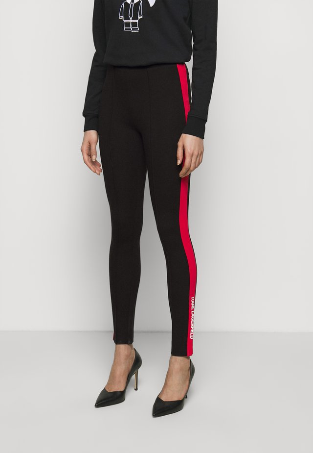 CONTRAST PANEL  - Leggings - Trousers - black