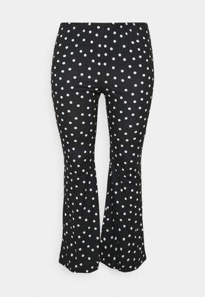 MONO SPOT KICK FLARE LEGGINGS - Trousers - black/white