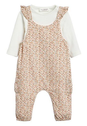 PINK DITSY DUNGAREES (0MTHS-2YRS) - Dungarees - pink